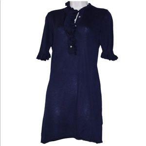 Tory Burch Cashmere Silk Blend Tunic Sweater